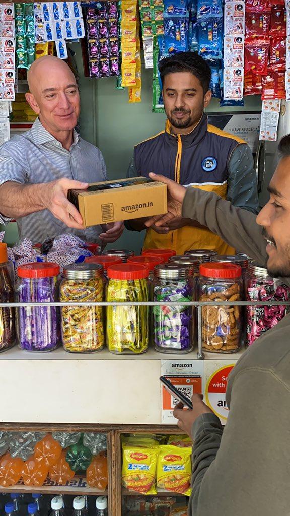 亚马逊与20000多家印度社区商店合作存储和分销产品