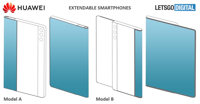 前线|华为的新专利:伸缩屏幕手机,可以将屏幕拉回到前面
